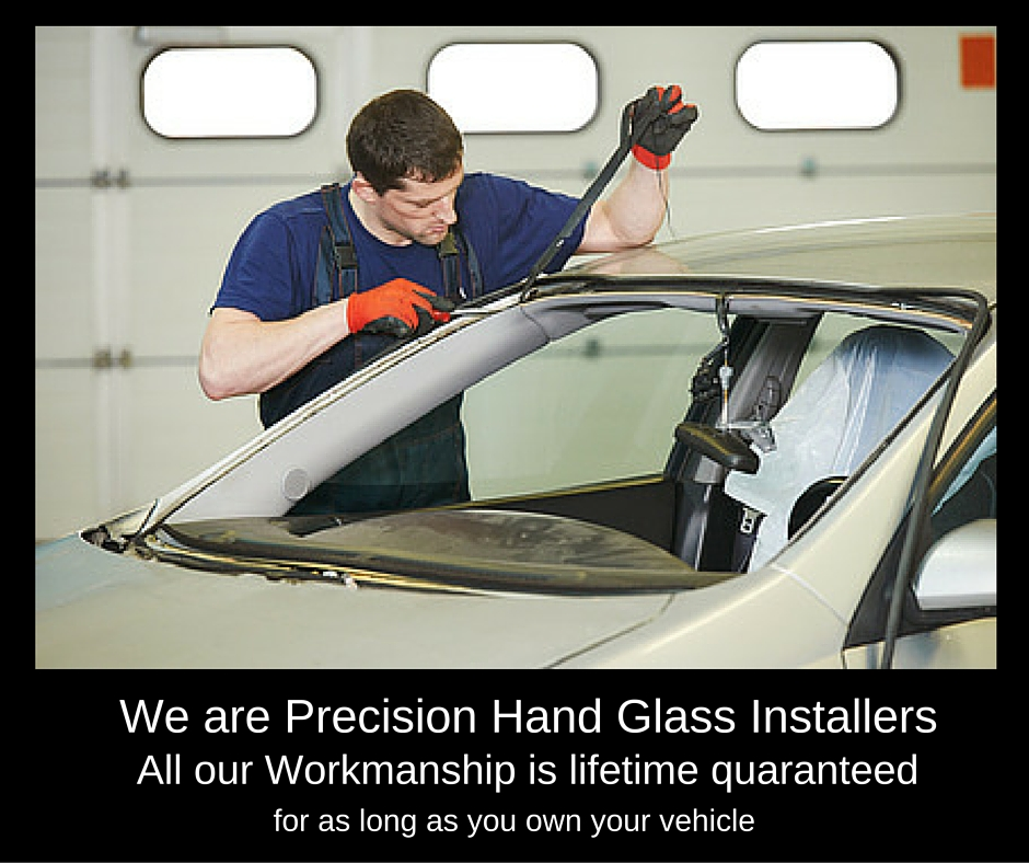 hand install auto windshield